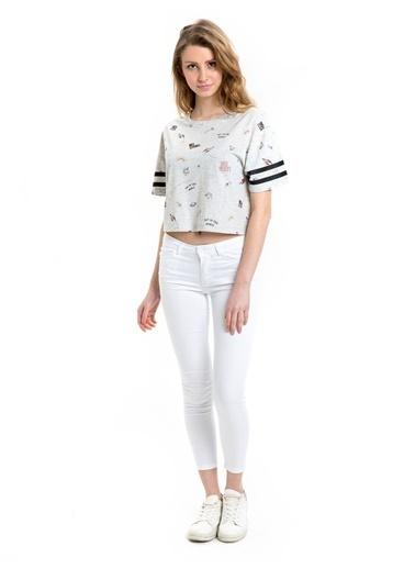 LC Waikiki Super Skinny Dar Pantolon Beyaz